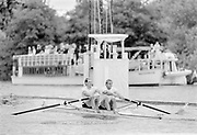 Henley on Thames, England, 1989 Henley Royal Regatta, River Thames, Henley Reach,  [© Peter Spurrier/Intersport Images], The Silver Goblets Nickalls' Challenge Cup: bow Simon BERRISFORD, Steve REDGRAVE,
