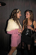 Melissa del Bono and Charlotte Cowen, Party organised by Beat, hosted by Panerai and the Baglione Hotel. London. 6 December 2004. ONE TIME USE ONLY - DO NOT ARCHIVE  © Copyright Photograph by Dafydd Jones 66 Stockwell Park Rd. London SW9 0DA Tel 020 7733 0108 www.dafjones.com