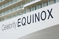 Celebrity Equinox, a brand new cruise ship belonging to Celebrity Cruises, during her river conveyance down the River Emms from the shipyard where she was built to the open sea..Onboard feature photos. (ship unfinished)