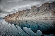 Reflection creates a mezmerizing illusion of mountain in motion.