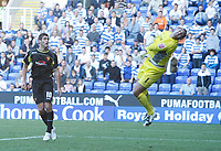 Photo: Steve Bond/Richard Lane Photography. Reading v Watford. Coca Cola Championship. 26/09/2009. Danny Grahams looping header clears Adam Federici for Watfords equaliser