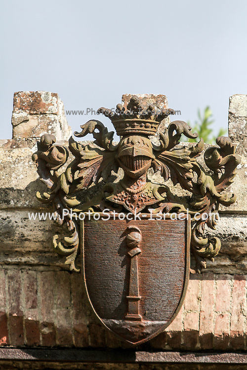 Coat of Arms. Photographed in Isola Maggiore, Lake Trasimeno, Umbria, Italy
