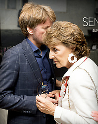 Princess Margriet with her son Prince Pieter-Christiaan during a Viritual Reality tour during the opening of the new association office of the Dutch Red Cross on the Anna van Saksenlaan on June 19, 2018. Photo by Robin Utrecht/ABACAPRESS.COM