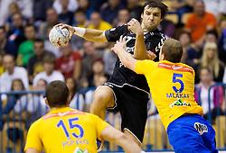 Klemen Cehte of Gorenje during handball match between RK Celje Pivovarna Lasko and RK Gorenje Velenje in 5th Round of 1. NLB Leasing Handball League 2012/13 on October 3, 2012 in Arena Zlatorog, Celje, Slovenia. (Photo By Vid Ponikvar / Sportida)
