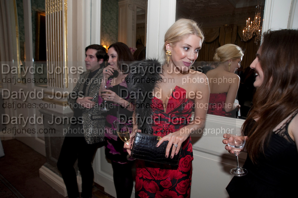 RICHARD DENNEN; DEBORAH FELDMAN; JESSICA WALSH; HARRIET COMPSTON, The Dowager Duchess od Devonshire and Catherine Ostler editor of the Tatler host a party to celebrate Penguin's reissue of Nancy Mitford's ' Wigs on the Green.'  The French Salon. Claridge's. London. 10 March 2010.