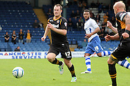 Newport County's Michael Flynn (17) makes a break.  Skybet Football League two match, Bury v Newport county at Gigg Lane in Bury on Saturday 5th Oct 2013. pic by David Richards, Andrew Orchard sports photography,