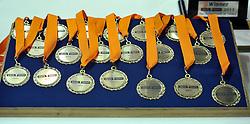 18-09-2011 VOLLEYBAL: DELA TROPHY NEDERLAND - TURKIJE: ALMERE<br /> Nederland wint met 3-0 van Turkije en wint hierdoor de DELA Trophy / Medailles<br /> ©2011-FotoHoogendoorn.nl