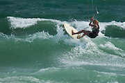 Outerbanks, NC - Adriana Harlan kiteboarding at the Triple-S 2011