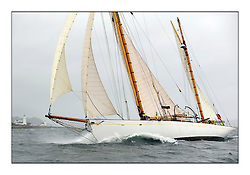 Day two of the Fife Regatta,Passage race to Rothesay.<br /> Kentra, E & D Klaus, GBR, Gaff Ketch, Wm Fife 3rd, 1923<br /> <br /> * The William Fife designed Yachts return to the birthplace of these historic yachts, the Scotland's pre-eminent yacht designer and builder for the 4th Fife Regatta on the Clyde 28th June–5th July 2013<br /> <br /> More information is available on the website: www.fiferegatta.com