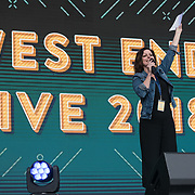 Presenter for the West End Live on June 17 2018  in Trafalgar Square, London.