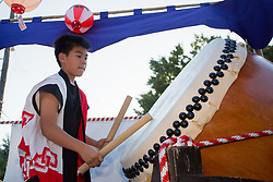 United States, Washington, Seattle, Bon Odori festival celebrated by Japanese-Americans at Buddhist temple