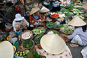 Hoi An, Vietnam. March 14th 2007..The food market in Hoi An.