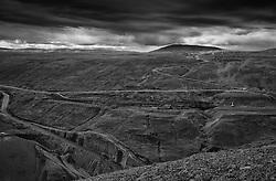 Making of the big dam forthe power plant Karahnjukar, highlands of Iceland - Undirbúningur að gerð stíflunnar við Kárahnjúka