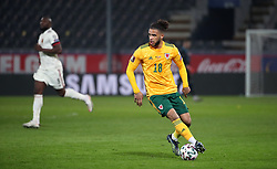 LEUVEN, BELGIUM - Wednesday, March 24, 2021: Wales' substitute Tyler Roberts during the FIFA World Cup Qatar 2022 European Qualifying Group E game between Belgium and Wales at the King Power Den dreef Stadium. Belgium won 3-1. (Pic by Vincent Van Doornick/Isosport/Propaganda)