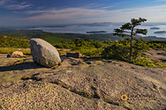 View from Cadillac Mountain looking down onto Frenchman Bay in Acadia National Park, Maine, USA