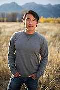 Director and Photographer Jimmy Chin at his home in Jackson, Wyoming on September 24, 2015.  Photo by David Stubbs