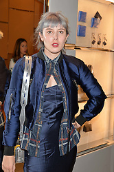 PAULA GOLDSTEIN at a dinner hosted by Tod's to celebrate the refurbishment of their store 2-5 Old Bond Street, London on 15th September 2016.