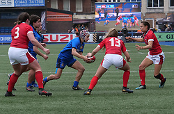 February 2, 2020, Cardiff, United Kingdom: Michela Sillari (Italy) seen in action during the women's Six Nations Rugby between wales and Italy at Cardiff Arms Park in Cardiff. (Credit Image: © Graham Glendinning/SOPA Images via ZUMA Wire)