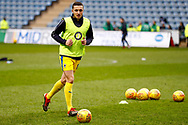 Wimbledon midfielder Anthony Hartigan (8) warming up  during the EFL Sky Bet League 1 match between Coventry City and AFC Wimbledon at the Ricoh Arena, Coventry, England on 12 January 2019.