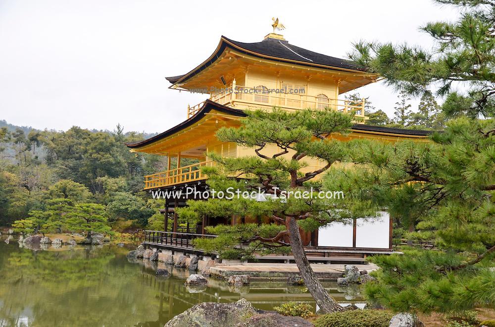Japan, Honshu, Kyoto, Kinkakuji gold pavilion