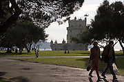 The area of Belem's Tower attracts lots of visitors, both tourists and locals, because of its beauty and peacefulness. Belem's Tower was built in the fifteenth century (1514-1520) as a military fortification. It was recognized as a UNESCO World Heritage Site in 1983.