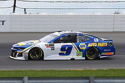 June 3, 2018 - Long Pond, PA, U.S. - LONG POND, PA - JUNE 03:  Chase Elliott (9) drives the NAPA Auto Parts Chevrolet during the Monster Energy NASCAR Cup Series - Pocono 400 on June 3, 2018 at Pocono Raceway in Long Pond, PA.  (Photo by Rich Graessle/Icon Sportswire) (Credit Image: © Rich Graessle/Icon SMI via ZUMA Press)