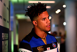 Anthony Watson of Bath Rugby is interviewed at the Aviva Premiership Rugby 2017/18 season launch - Mandatory by-line: Robbie Stephenson/JMP - 24/08/2017 - RUGBY - Twickenham - London, England - Premiership Rugby Launch
