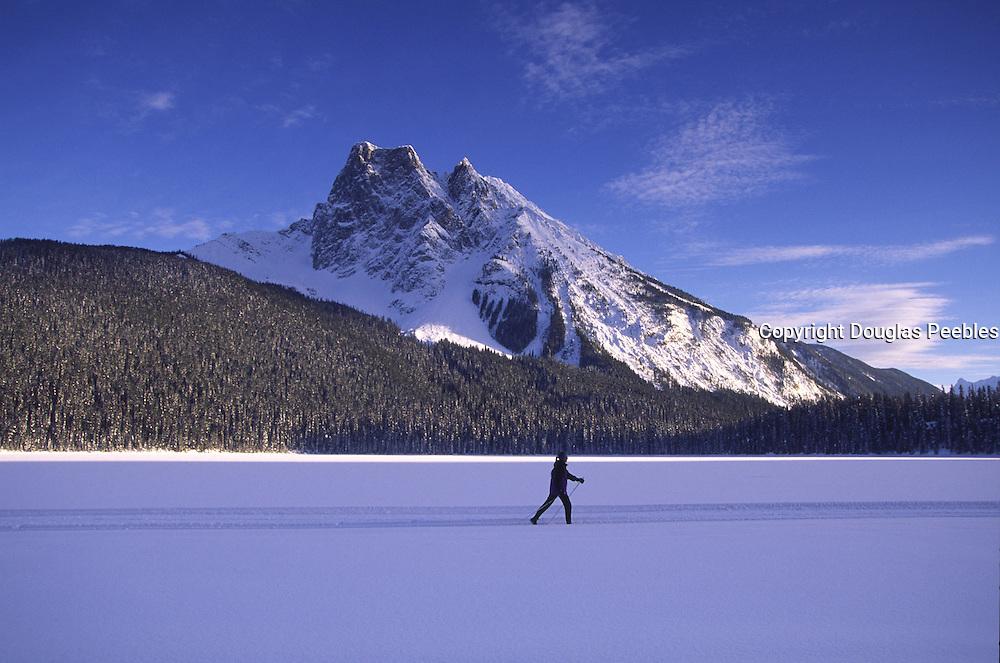 Cross country skiing, Lake Emereald, British Columbia, Canada<br />