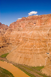 Scenic of Colorado River at the bottom of Grand Canyon, Arizona, AZ, cliffs, landscape, vertical, nature, erosion, arid, Image nv446-18536.Photo copyright: Lee Foster, www.fostertravel.com, lee@fostertravel.com, 510-549-2202