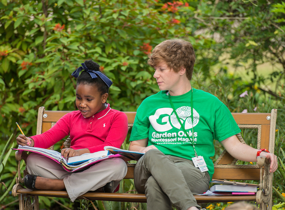 Students participate in class at Garden Oaks Elementary School, October 7, 2014.