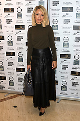 © Licensed to London News Pictures. 16/09/2016. KATIE PIPER attends the Kolchagov Barba SS 17 fashion show during London Fashion Week.  London, UK. Photo credit: Ray Tang/LNP