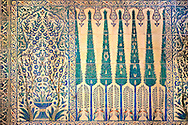 Decorative tiled panels of the Harem in the Topkapi Palace, Istanbul, Turkey .<br /> <br /> If you prefer to buy from our ALAMY PHOTO LIBRARY  Collection visit : https://www.alamy.com/portfolio/paul-williams-funkystock/topkapi-palace-istanbul.html<br /> <br /> Visit our TURKEY PHOTO COLLECTIONS for more photos to download or buy as wall art prints https://funkystock.photoshelter.com/gallery-collection/3f-Pictures-of-Turkey-Turkey-Photos-Images-Fotos/C0000U.hJWkZxAbg