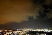 Haifa bay at night, Israel