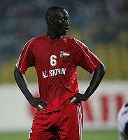 Photo: Steve Bond/Richard Lane Photography.<br />Sudan v Zambia. Africa Cup of Nations. 22/01/2008. Sudan defender Jastein Ritshard awaits a corner