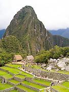 Huayna Picchu and the Incan ruins of Machu Picchu, near Aguas Calientes, Peru.