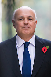Downing Street, London, November 3rd 2015.  Work and Pensions Secretary Iain Duncan-Smith arrives at 10 Downing Street to attend the weekly cabinet meeting. /// Licencing: Paul@pauldaveycreative.co.uk Tel:07966016296 or 020 8969 6875