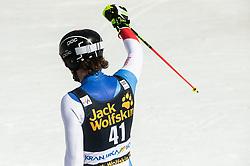 SIMONET Sandro of Switzerland reacts during the Audi FIS Alpine Ski World Cup Men's Slalom 58th Vitranc Cup 2019 on March 10, 2019 in Podkoren, Kranjska Gora, Slovenia. Photo by Matic Ritonja / Sportida