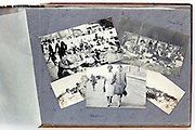 page from a photo album with happy moments family snapshots 1920s