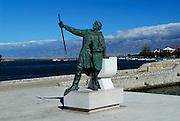 Statue of Dux Branimir (Duke Branimir), historical Croatian hero. Nin, Croatia