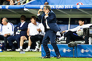 Portuguese team coach Fernando Santos  shouting instructions to players during Euro Cup Final against France. Portugal beat France on extra-time by 1-0 at Saint Denis stadium in Paris becoming European Champions for the first time.
