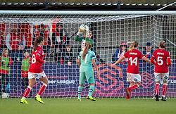 Sophie Baggaley of Bristol City makes a save - Mandatory by-line: Paul Knight/JMP - 28/10/2018 - FOOTBALL - Stoke Gifford Stadium - Bristol, England - Bristol City Women v Arsenal Women - FA Women's Super League