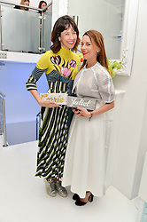 Left to right, CARRIE COLBERT and JULIET ANGUS at a London Fashion Week Party hosted by rewardStyle at IceTank, 5 Grape Street, London on 21st February 2016.