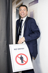 © Licensed to London News Pictures . 24/09/2017. Brighton, UK. IAIN MCNICOL inside the conference venue . The first day of the Labour Party Conference in and around The Brighton Centre . Photo credit: Joel Goodman/LNP
