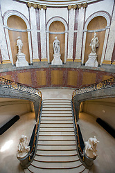 Grand staircase inside famous Bode Museum on Museuminsel Muuseum Island in central Berlin Germany 2008