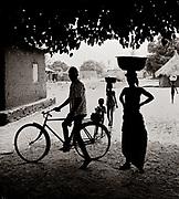 Togo - village silhouette