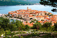 Kor?ula town  [  Korcula ] Island Craotia Korčula town  ( Korcula] harbour  Craotia .<br /> <br /> Visit our MEDIEVAL PHOTO COLLECTIONS for more   photos  to download or buy as prints https://funkystock.photoshelter.com/gallery-collection/Medieval-Middle-Ages-Historic-Places-Arcaeological-Sites-Pictures-Images-of/C0000B5ZA54_WD0s