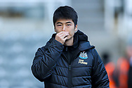 Ki Sung-Yueng (#4) of Newcastle United arrives ahead the Premier League match between Newcastle United and Fulham at St. James's Park, Newcastle, England on 22 December 2018.