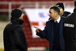 Peterborough United Manager, Darren Ferguson has words with the fourth official - Photo mandatory by-line: Joe Dent/JMP - Tel: Mobile: 07966 386802 11/01/2014 - SPORT - FOOTBALL - County Ground - Swindon - Swindon Town v Peterborough United - Sky Bet League One