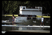 Barcelona Olympics 1992 - Lake Banyoles, SPAIN,  GV's,  Crews boating, Spanish/Moorish House round the lake,  Photo: Peter Spurrier/Intersport Images.  Mob +44 7973 819 551/email images@intersport-images.com