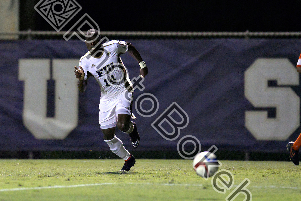 2015 September 12 - FIU's Jamar Campion-Hinds (14). <br /> Florida International University defeated Princeton, 2-1, at the FIU Soccer Complex, Miami, Florida.  (Photo by: Alex J. Hernandez / photobokeh.com) This image is copyright by PhotoBokeh.com and may not be reproduced or retransmitted without express written consent of PhotoBokeh.com. ©2015 PhotoBokeh.com - All Rights Reserved